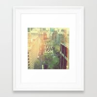 "pocketfuel Framed Art Prints featuring John 3:16 ""For God so loved the world"" (Version 2) by Pocket Fuel"