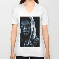 african V-neck T-shirts featuring African by elenachukhriy