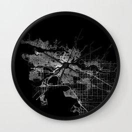 vancouver map canada Wall Clock