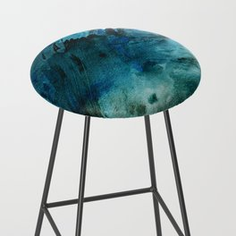 Scenic Route [2]: a pretty, minimal abstract piece in blue and green by Alyssa Hamilton Art Bar Stool