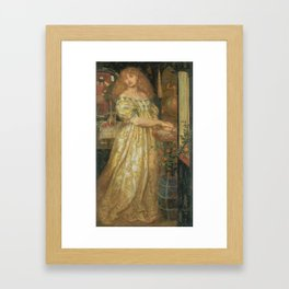 Dante Gabriel Rossetti 1828–1882   Lucrezia Borgia Framed Art Print