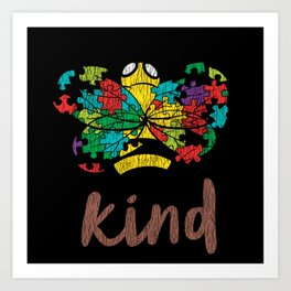 Autism Awareness Bee Kind Autistic Kids Awareness Art Print