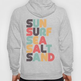 Retro Sun Surf Sea Salt Sand Typography Hoody