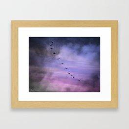 MYSTICAL FLIGHT Framed Art Print