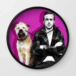 Ryan Gosling and friend Wall Clock