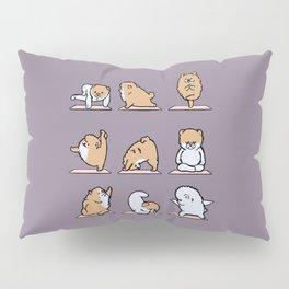 Pomeranian yoga Pillow Sham