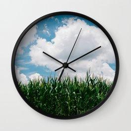 Rural Corn Fields III Wall Clock