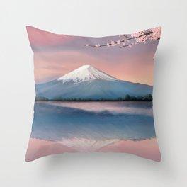 mt fuji Throw Pillow