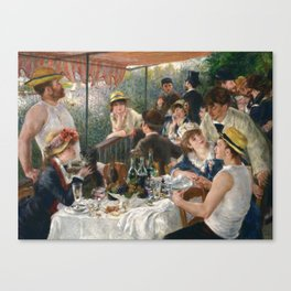 Auguste Renoir  -  Luncheon Of The Boating Party Canvas Print