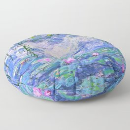 Claude Monet Water Lilies French Impressionist Art Floor Pillow