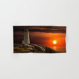 Lighthouse at Sunset in the Peggy's Cove Hand & Bath Towel