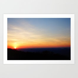 Appalachia Sunset  Art Print