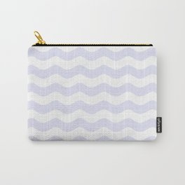 WAVES (LAVENDER & WHITE) Carry-All Pouch