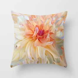 Dancing Dahlia Throw Pillow