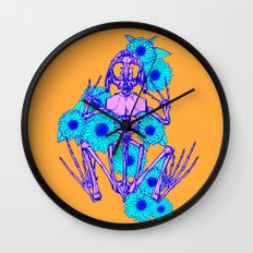 Frog Skeleton Wall Clock