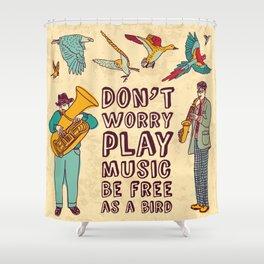 Play music Shower Curtain