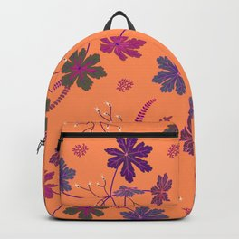 Vivid Forest Plants Seamless Print Backpack