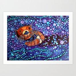 Otter bubble bath Kunstdrucke