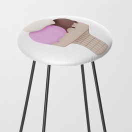 Neapolitan Ice Cream Cone Counter Stool