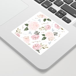 Floral Blossom - Muted Pink Sticker