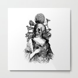Sinner Skull Metal Print