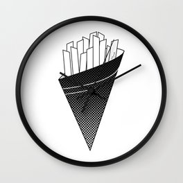 French Fries frites Wall Clock