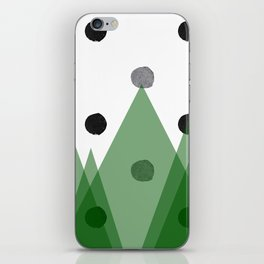 Christmas mountains iPhone Skin