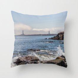 Twin Lights Landscape 2596 Throw Pillow