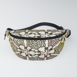 Floral Circuitry Fanny Pack