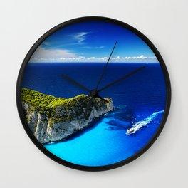 Greek island Ionian sea seascape travel concepts summer Zakynthos Greece Wall Clock