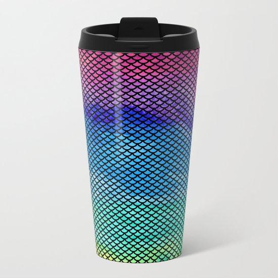 Rainbow Mermaid Tail Metal Travel Mug