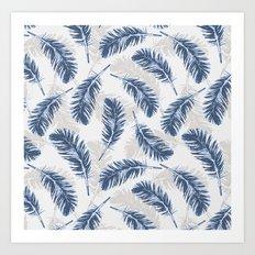 My blue feathers Art Print