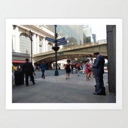 Motion at Pershing Square Art Print