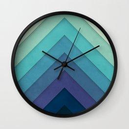 Retro Chevrons 001 Wall Clock