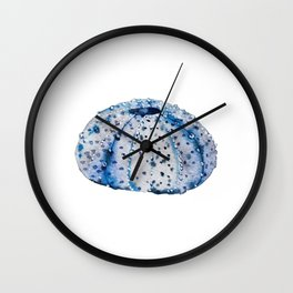 Ink blue urchin Wall Clock