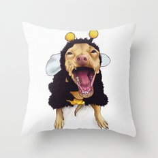 Chihuahua in bee costume - Tuna Throw Pillow