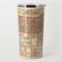 Topographical Map of the State of Massachusetts (1861) Travel Mug