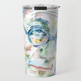 LE CORBUSIER - watercolor portrait Travel Mug