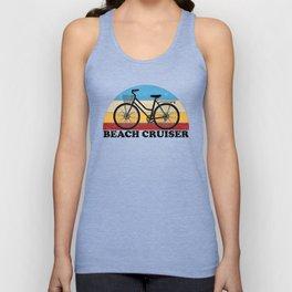 Beach Cruiser Bike Vintage Colors Unisex Tank Top