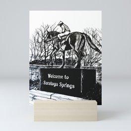 """Native Dancer"" Saratoga Springs, Thoroughbred Racehorse, Kentucky Derby, Equine Horse Artwork Mini Art Print"