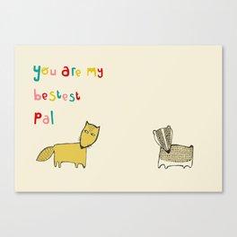 Bad Fox Canvas Print