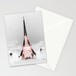pariS Black & White + Pink Stationery Cards