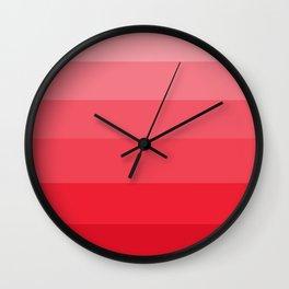 Deep Healing Coral - Jeweled Hues Wall Clock