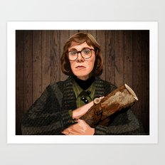 The Log Lady Art Print