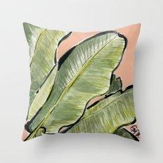Palm Leaf No.1 Throw Pillow