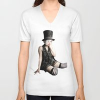 mad hatter V-neck T-shirts featuring Mad Hatter by Bephotography