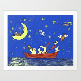 Dogs with Wings Art Print