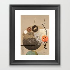 Into nothing Framed Art Print