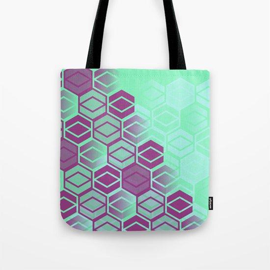 Purple on Mint Tote Bag