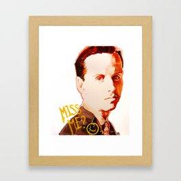 Miss me? - Jim Moriarty Framed Art Print